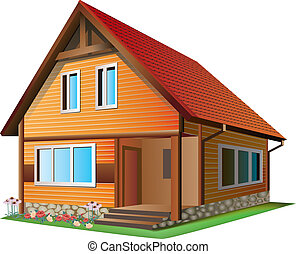 Illustration of house - Vector Illustration of ? small house...