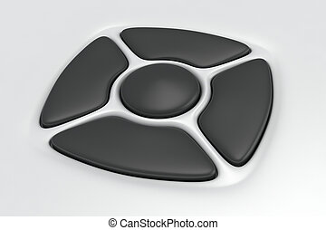 Remote control - Grey buttons of remote control on the white...