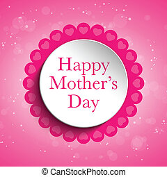 Happy Mother Day Heart Tag Background - Vector - Happy...