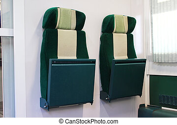 Retractable train seats - Modern train with retractable...