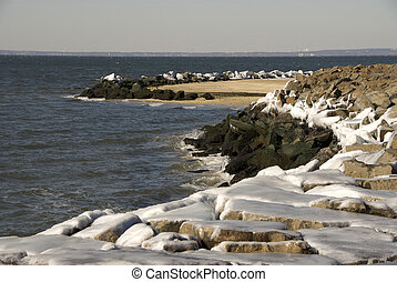 Artic Blast at the Jersey Shore, Sandy Hook, Gateway...