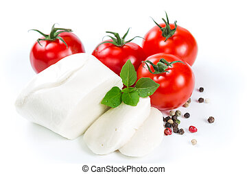Mozzarella, tomatoes and pepper