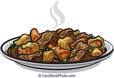 beef stew with steamy vegetables