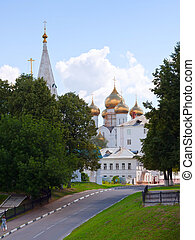 Assumption cathedral at Yaroslavl in summer Russia