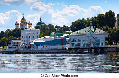 view of Yaroslavl from Volga river Russia