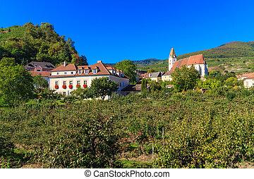 Spitz Village in famouse Wachau Valley, Austria