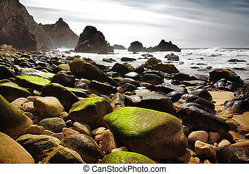 Ursa Beach - Rocky seascape of Ursa Beach in Portugal
