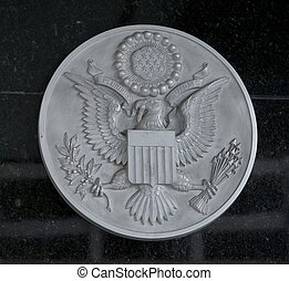 Great Seal of the United States - Metal engraving of the...
