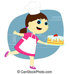 the girl with the cake