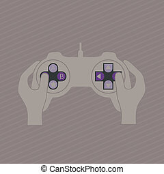 Bideo game controller - illustration of game controls, Video...
