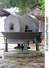 Olive press - Medieval stone press for olive oil extraction