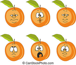 Emotion cartoon peach set 007 - Vector.Emotion cartoon peach...