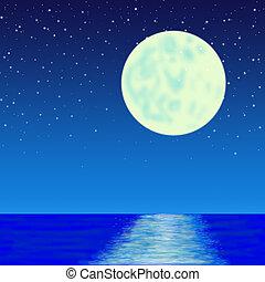 moon on sea
