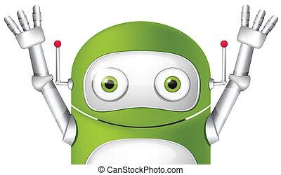 Cute Robot - Cartoon Character Cute Robot. Avatar. Vector...