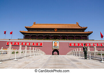 Tiananmen Gate, Forbidden City - Gate of Heavenly Peace...
