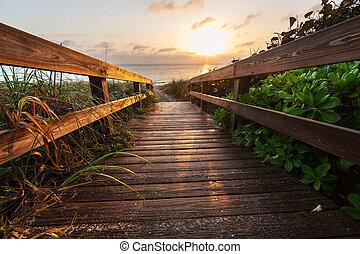 Boardwalk on beach - boardwalk on beach