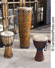 African Drums - African Traditional Tribal Wooden Rhythmic...