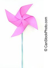 toy pinwheel on white background