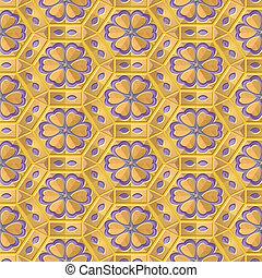 creamy flower pattern