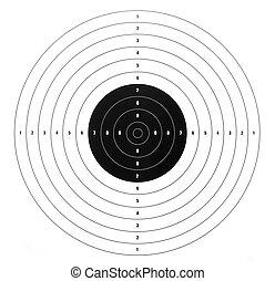 paper shooting target for shooting practice