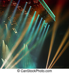 Stage lights  - Colorful Stage lights at concert