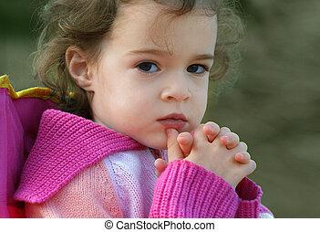 Little girl - A portrait of a 4 year old cute little girl