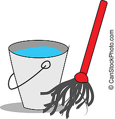 Water bucket with mop