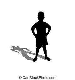 The child - The little boy with a shade of the adult man of...