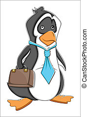 Office Cartoon Penguin