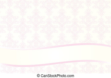 card template with seamless pattern