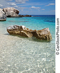 Costa Smeralda of Sardinia - Big rocks in the shallow...