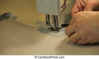 industrial sewing machine - sewing machine stitching canvas
