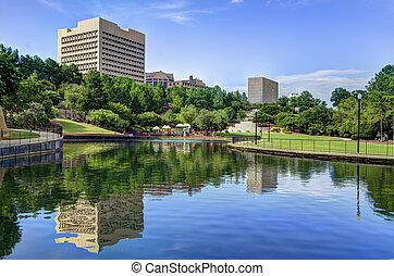 Columbia, South Carolina Park - Finlay Park in Columbia,...