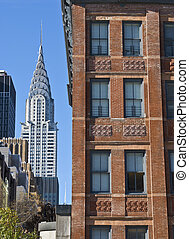 Classic New York - A view of the Chrysler building with...