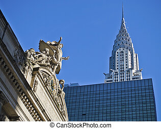City Landmarks - Classic sculpture of Grand Central Terminal...