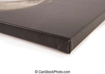 Stretched canvas detail - Close up detail of a stretched...