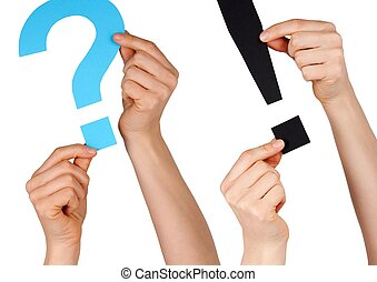 punctuation marks - two punctuation marks, one question mark...