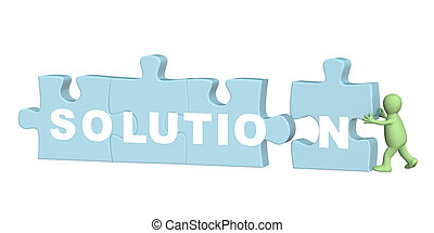 Solution - 3d puppet successfully solved a puzzle