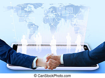 The conclusion of the transaction Handshake