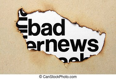 Bad news concept
