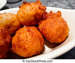 Southern Hushpuppies - Hushpuppies are made of cornmeal A...