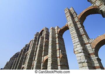 aqueduct - Miracles aqueduct in Merida, Extremadura, Spain