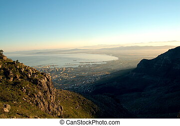 View of Cape Town, South Africa, from the top of Table...