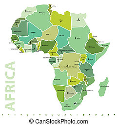 African map - vector map of Africa