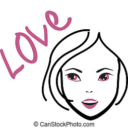 woman loveeps - is an illustration in eps file