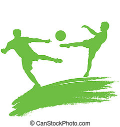 soccer players - vector illustration of soccer players