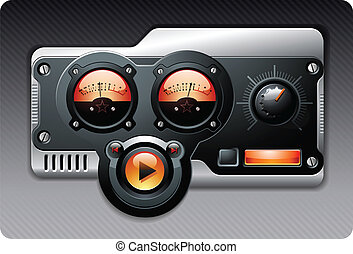 Music media MP3 Radio Device vector