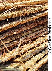 Thatched roof.