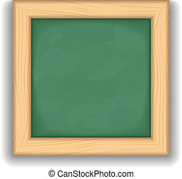 Blackboard Icon - Icon of a blank green blackboard, vector...