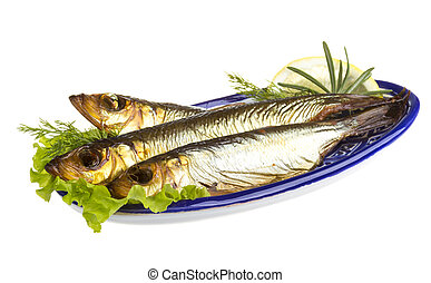 Smoked sprat - appetizing snack